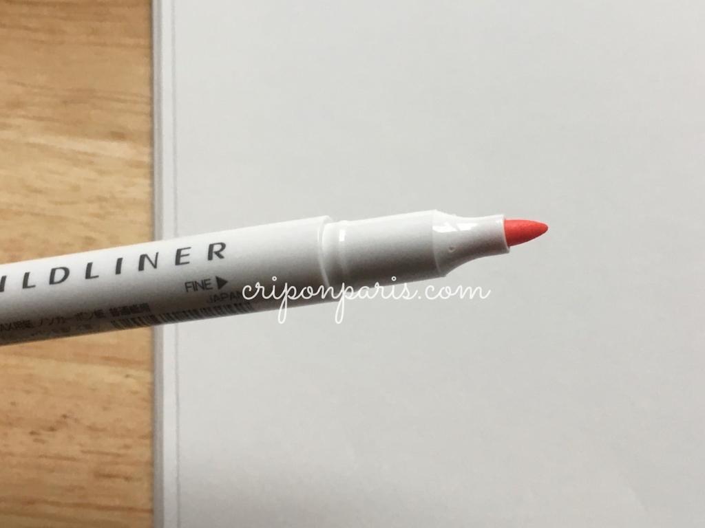 中字のペン先