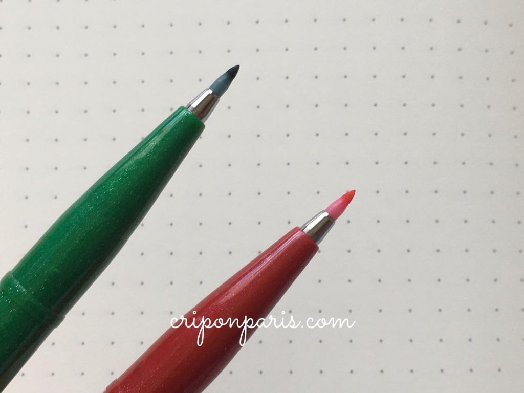 筆タッチのペン先
